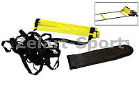 Координационная лестница дорожка для тренировки скорости 10м (20 перекладин) C-4607 (10мx0,52мx2мм)