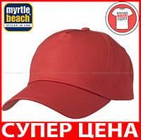Пятипанельная кепка для промо акций цвет КРАСНЫЙ mb001