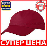Пятипанельная кепка для промо акций цвет БОРДОВЫЙ mb001