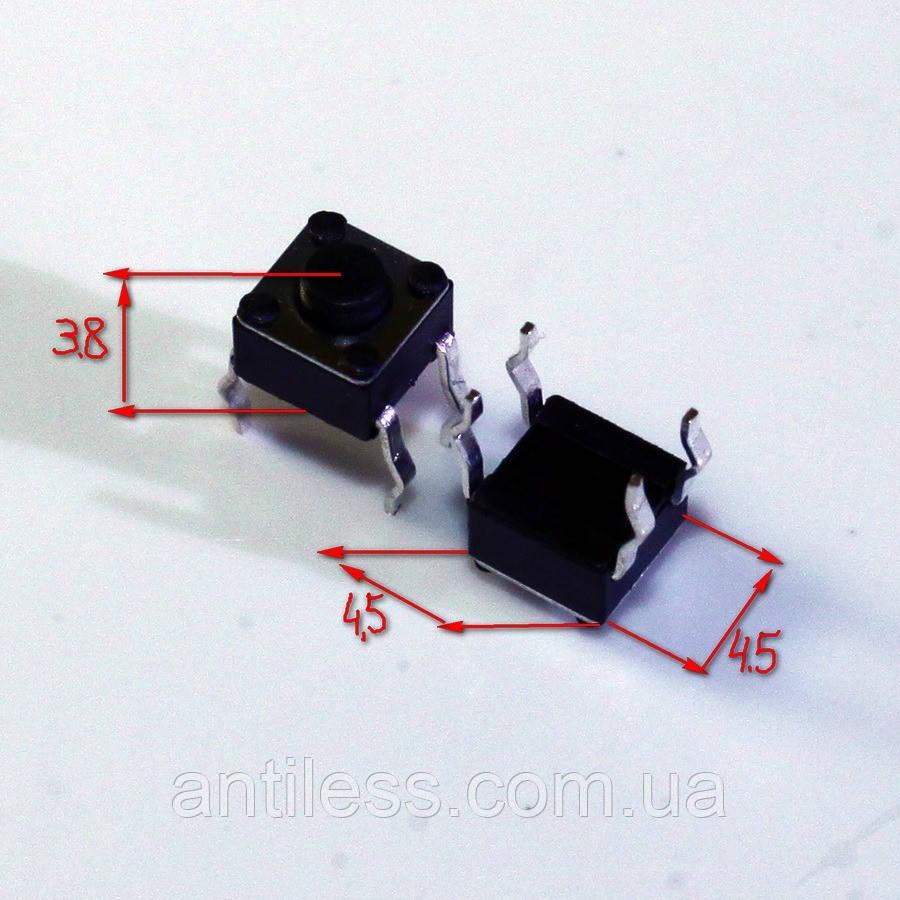 КНОПКА DIP 4 PIN 4.5*4.5*3.8 4.5x4.5x3.8 мм
