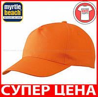 Пятипанельная кепка для промо акций цвет ОРАНЖЕВЫЙ mb001