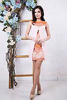 Женское розовое платье Юлианна ТМ Irena Richi 42-48 размеры