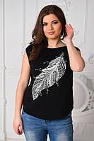 Женская футболка без рукавов Батал Цвета Юнона