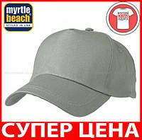 Пятипанельная кепка для промо акций цвет ТЕМНО-СЕРЫЙ mb001