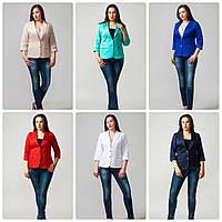 Пиджак большого размера разные цвета 50-60