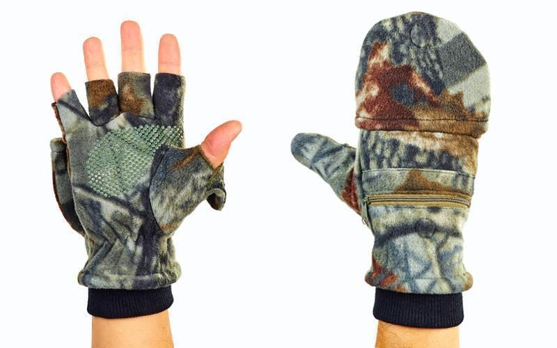 Перчатки-варежки флисовые для рыбалки BC-4628 (флис, PL закрытые пальцы, р-р L, камуфляж Realtree) - Интернет - магазин спортивной одежды SPORT+. С Доставкой по Украине. в Киеве