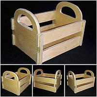 Декоративный ящик из дерева, 20х15х16 см., 135/105 (цена за 1 шт. + 30 гр.)