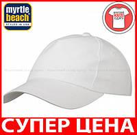 Пятипанельная кепка для промо акций цвет БЕЛЫЙ mb001
