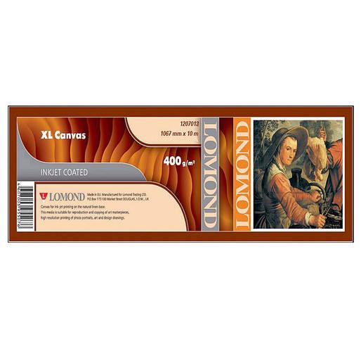 Холст Lomond льняной с глянцевым покрытием для струйных принтеров 400 мкм, 1067 мм х 10 метров