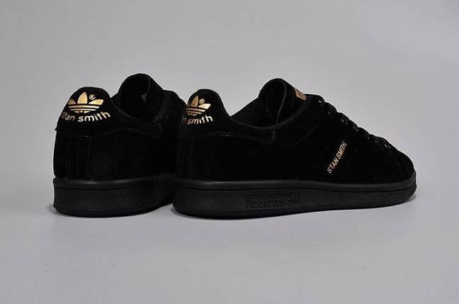 Кроссовки мужские в стиле Adidas Stan Smith Suede Black купить в ... 05a38f04fb3