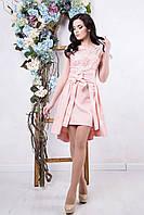 Красивое женское платье Фуршет пудра ТМ Irena Richi 42-46 размеры