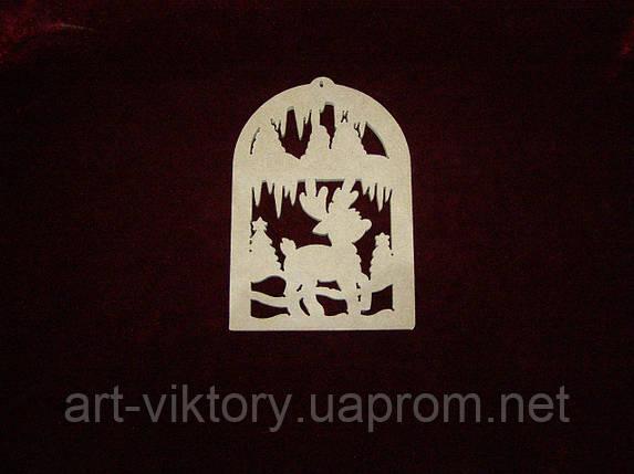 Олень в ледяном царстве (10 х 16 см), декор, фото 2