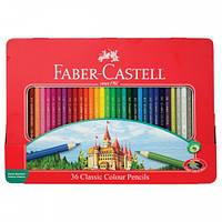 Цветные карандаши 36 цветов.классик металлическая коробка,арт 115886