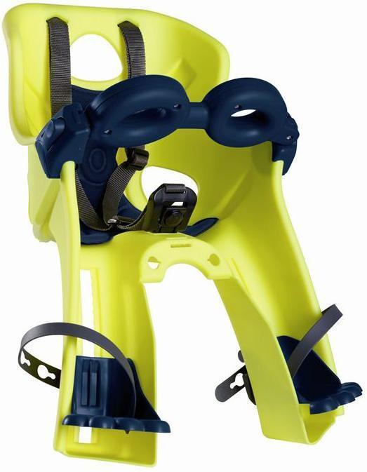 Сиденье переднее Bellelli Freccia Standart B-fix до 15кг, неоново-жёлтое с чёрной подкладкой (Hi Vision)