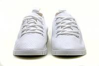 Женские летние белые кроссовки - мокасины на шнурках р.36-41