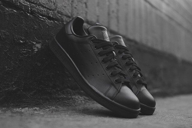 Кроссовки в стиле Adidas x Raf Simons Stan Smith Black