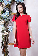 Летнее женское красное платье Фрида ТМ Irena Richi 42-48 размеры