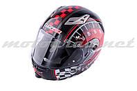 Шлем трансформер LS2 FF370 красно-черный + солнцезащитные очки