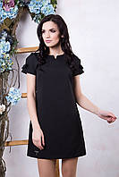 Летнее женское черное платье Фрида ТМ Irena Richi 42-48 размеры