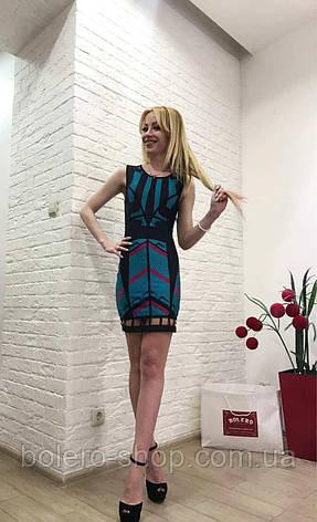 Женское платье приталенное короткое брендовое Италия, фото 2