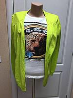 Кардиган- кофта  женский  длинный рукав  салатовый s.Oliver