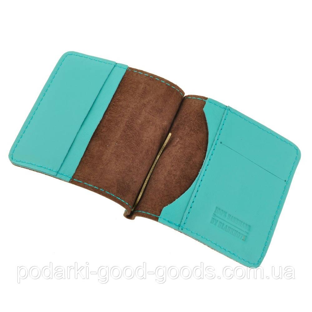 a2d55623385f Зажим для денег Орех тиффани кожаный кошелек портмоне бумажник - Good Goods  Интернет-магазин подарков