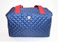 Женская стеганная сумка синего цвета