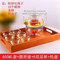 Набор китайской чайной церемонии стеклянный подарочный 9295
