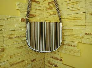 Сумка полосатая коричневая через плечо, фото 2