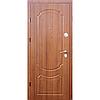 Входные квартирные двери Оптима Премиум Орех светлый