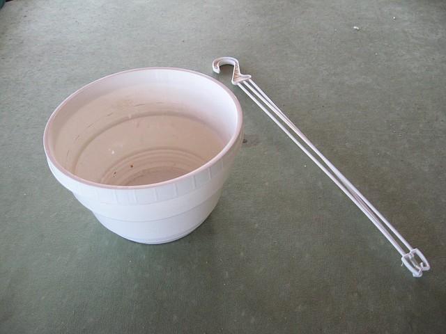 Кашпо подвесное плотные, 3л., диаметр 20