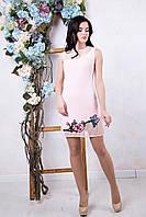 Короткое розовое платье Флория ТМ Irena Richi 42-48 размеры
