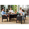 Allibert Columbia dining set Brown, фото 2