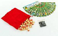 Настольная игра русское лото 1634 с мешочком для хранения: 90 бочонков + 24 карточки