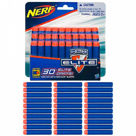 Набор из 30 стрел для бластеров Nerf серии Elite Hasbro A0351, фото 2