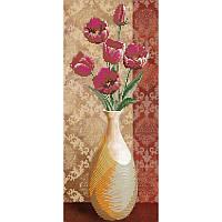 Схема для вышивки бисером Цветы в вазе - 1
