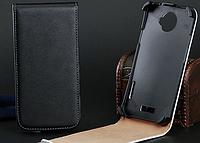 Кожаный чехол флип для HTC ONE X S720e G23 черный