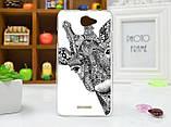 Силиконовый чехол для HTC Desire 516 с рисунком i am happy, фото 7