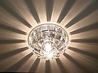 Встраиваемый декоративный точечный светильник с кристаллом K9 Feron JD87 прозрачный золото, фото 1