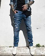 Джинсы Hamur 0269 молодёжка стильная мужская одежда, джинсы, брюки, шорты