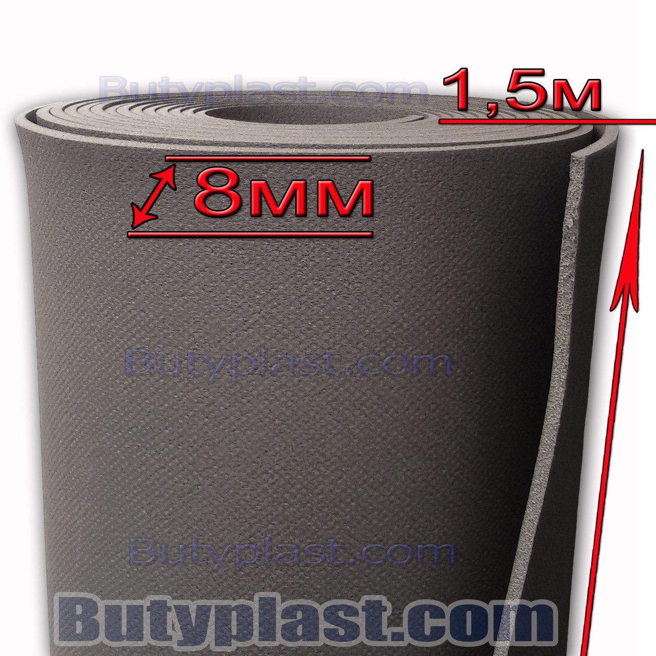 Шумоизоляция Isolon 8мм БК - Виброизоляция Butyplast в Харькове
