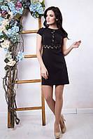Стильное женское черное платье Стефани 2 ТМ Irena Richi 42-48 размеры