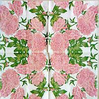 """Салфетка декупажная 33x33см 3 """"Розовые цветы"""""""