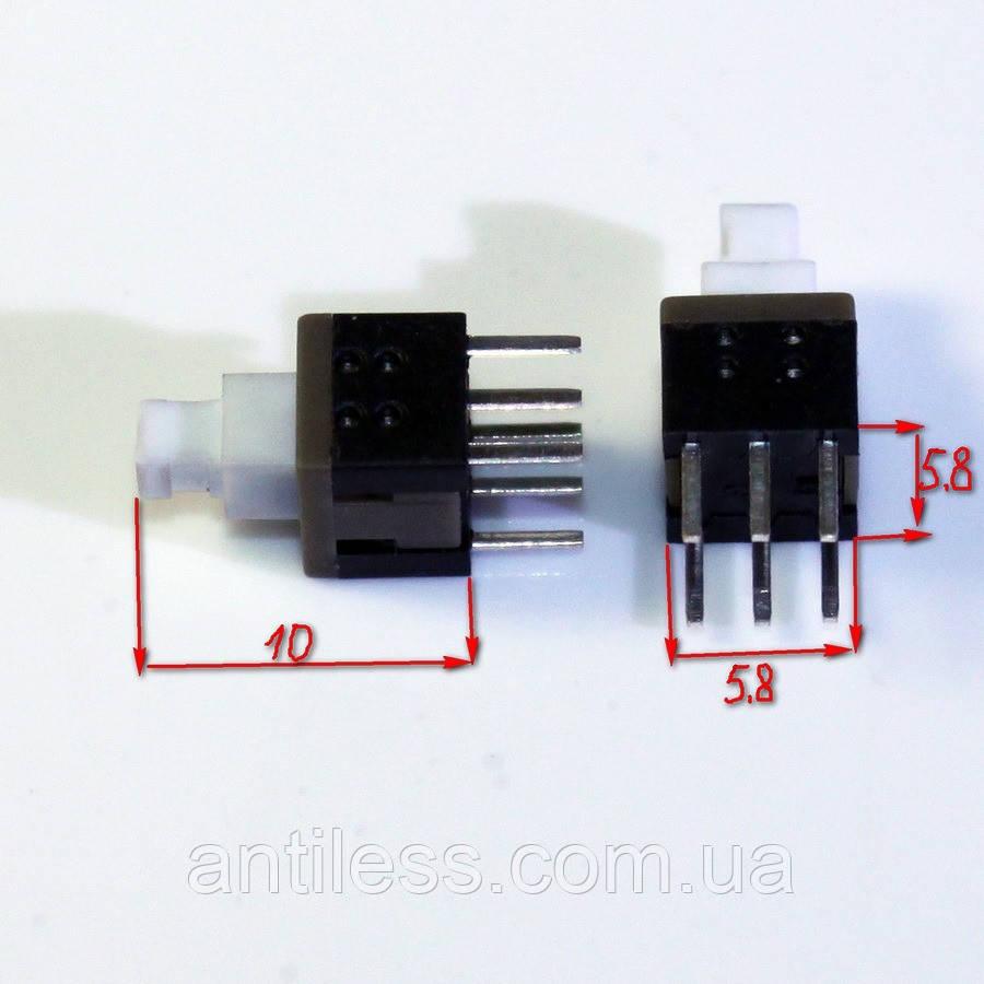 КНОПКА С ФИКСАЦИЕЙ 6 PIN 5.8*5.8*10 5.8х5.8х10 мм