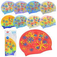 Шапочка для плавания MS 0181 22-19см, микс цветов, в кульке, 19-11см