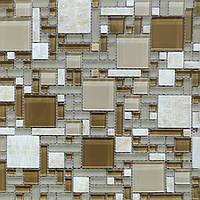 Мозаика  мрамор и стекло RS75