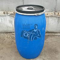 бочки пластиковые б/у 227л (крышка хомут) (чистая)