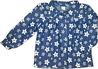 Блуза джинсовая на девочки  размер 92 104 110 116