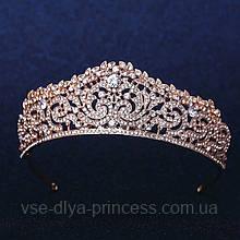 Корона, диадема, тиара под золото, высота 4,5 см.