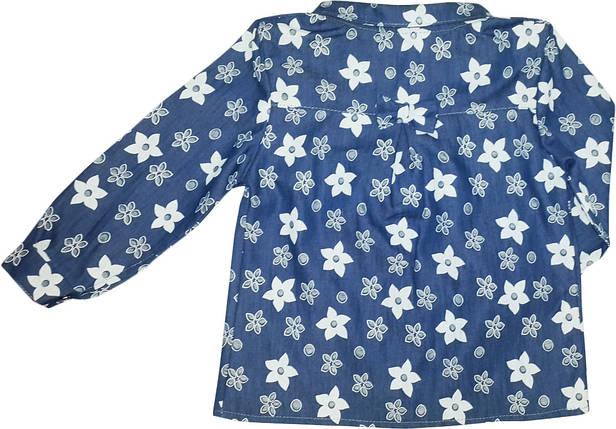 Блуза джинсовая на девочки  размер 92 104 110 116, фото 2